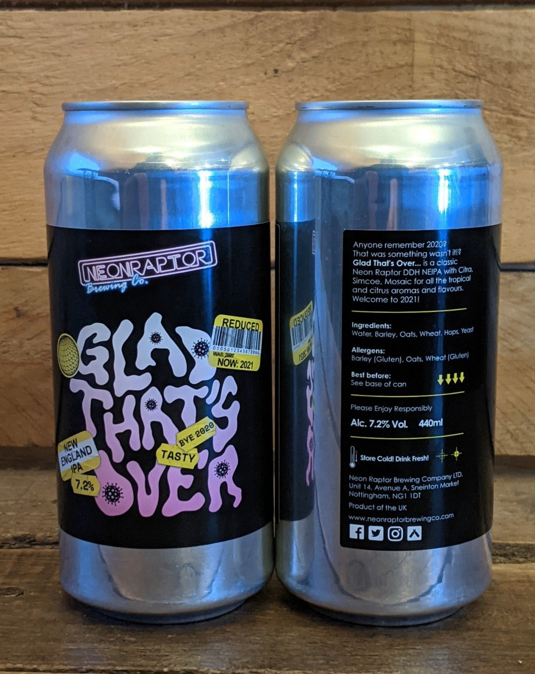 Neon Raptor - Glad That's Over NEIPA 7.2% 440ml