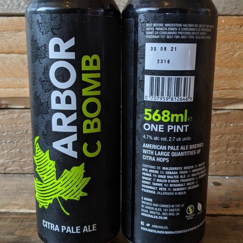 Arbor - C Bomb Pale Ale 4.7% 568ml