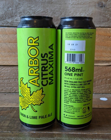 Arbor - Citrus Maxima Lemon & Lime Pale Ale 4% 568ml