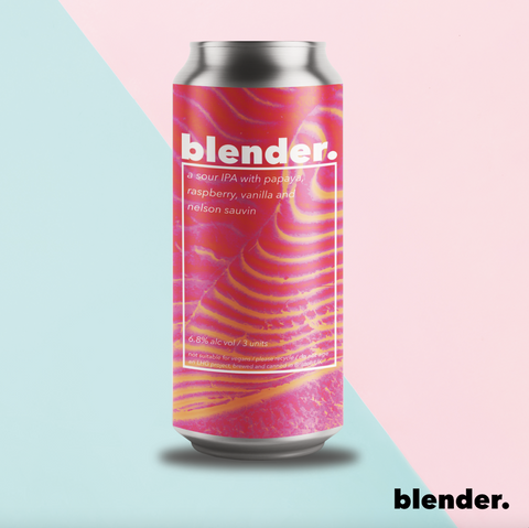 Left Handed Giant - Blender III Raspberry, Papaya, Vanilla and Nelson Sauvin Sour IPA 6.8% 440ml