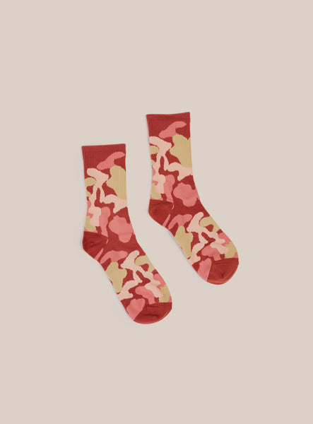 Red Camo Sock By Hansel From Basel