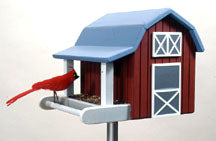Red Barn Bird Feeder PLAN sku#125