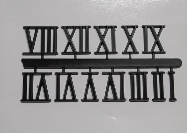 Self Stick Black Roman Numerals
