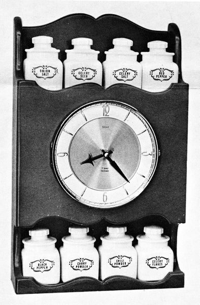 Spice Rack Clock Plan #279