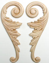 "Embossed Wood Applique<br> size each 2-5/8"" x 7-1/8"""