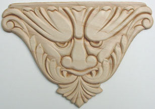 "Embossed Wood Applique<br> 5-1/2"" x 7-1/2"""