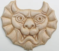 "Embossed Wood Applique<br> 2-1/2"" x 2-3/4"""