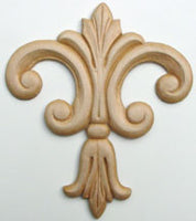 "Embossed Wood Applique<br> 4-1/2"" x 5-3/8"""