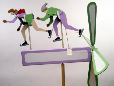 Ice Skaters Whirligig sku#573