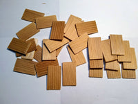 Straight End Dollhouse Shingles