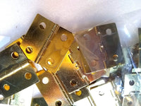 BLEMISHED Hinge 50 pack with Screws Brass Plated