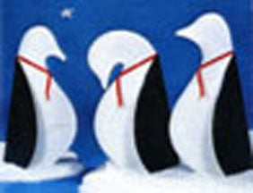 "33"" Tall Winter Penguins  Plan sku#M8"
