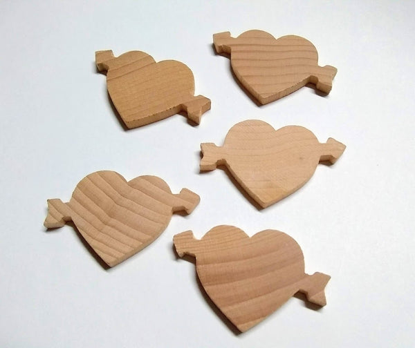 "Heart 3/16"" x 2-1/4"" wide sku#CUPID"