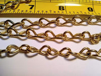 Brass Plated Chain 16 Gauge sku#CHAIN16