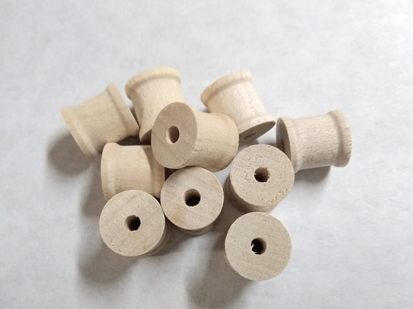 "Wood Spool 1/2"" x 1/2"" w 1/8"" hole 100/pkg sku#KS3"