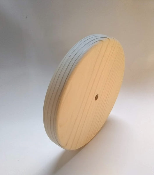 "Large Pine Wood Toy Wheel 5-1/8"" x 3/4"" Thick"