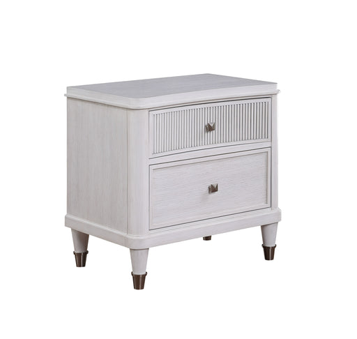 Celestia Off White Nightstand (Reeded Top Drw) image