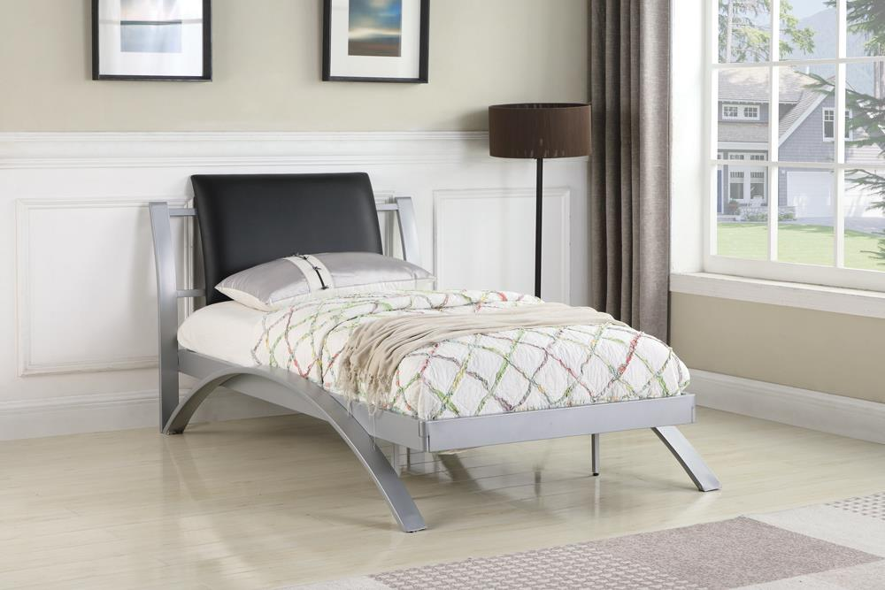 LeClair Contemporary Black and Silver Youth Twin Bed image