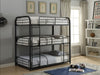 Cairo Sandy Black Bunk Bed (Triple Full) image