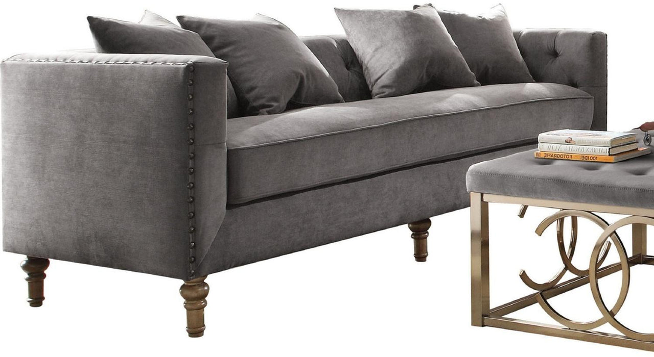 Acme Furniture Sidonia Sofa in Gray Velvet 53580 image