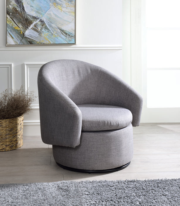 Joyner Pebble-Gray Linen Accent Chair image