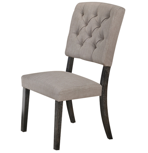 Bernard Fabric & Weathered Gray Oak Side Chair image
