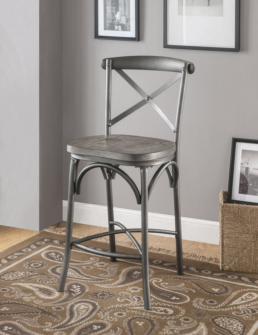 Acme Furniture Kaelyn II Counter Height Chair in Gray Oak and Sandy Gray (Set of 2) 70467 image