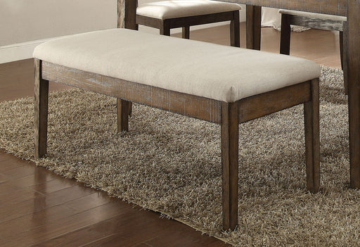 Acme Furniture Claudia Upholstered Bench in Beige and Brown 71718 image