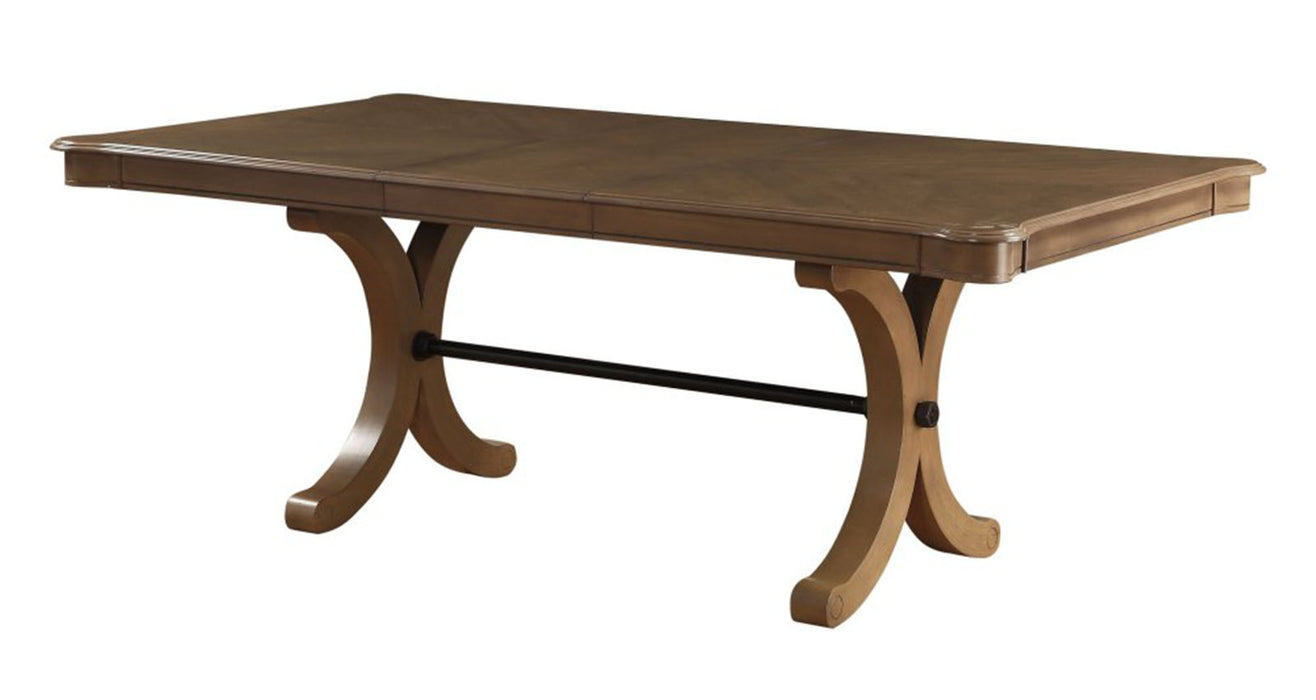 Acme Furniture Harald Rectangular Dining Table in Gray Oak 71765 image