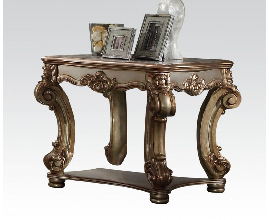 Acme Vendome End Table in Gold Patina 83001 image