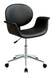 Camila Black PU Office Chair image