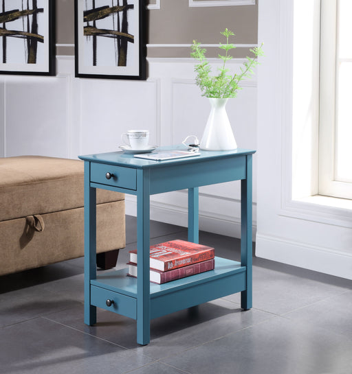 Byzad Teal Side Table (USB Charging Dock) image