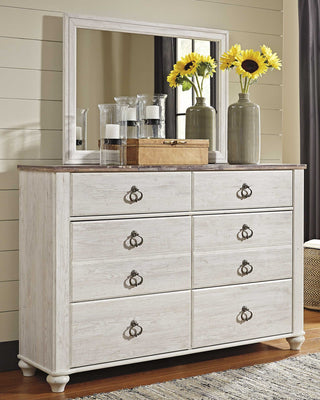 Willowton Signature Design by Ashley Dresser and Mirror image