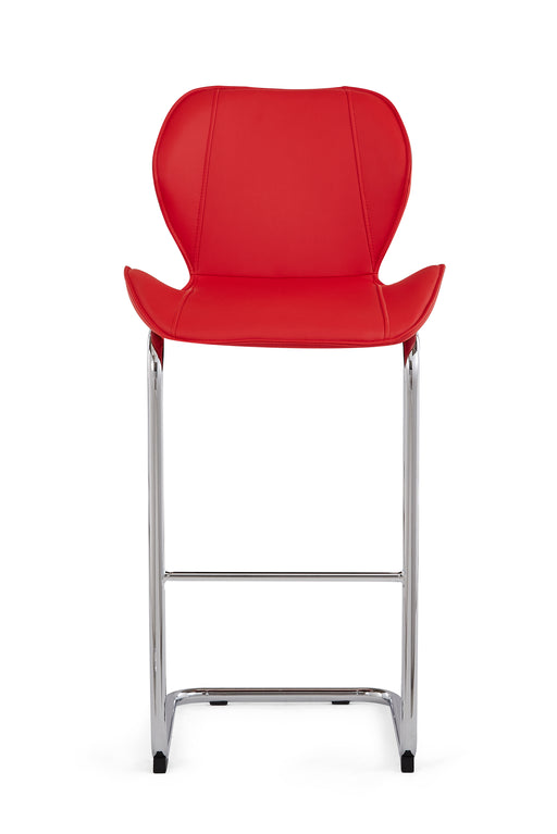 Red Set Of 4 Barstools D1446BS - R image