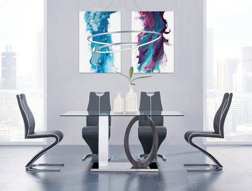 White/Grey Dining Table image