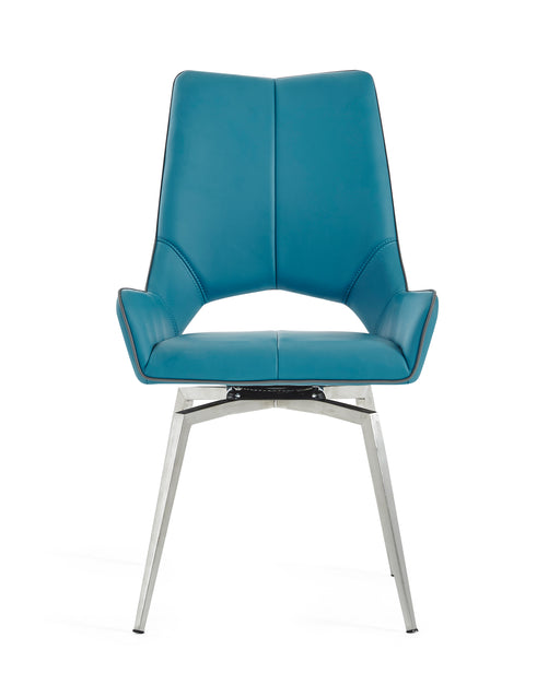 Turquoise Set Of 2 Swivel Dining Chairs image