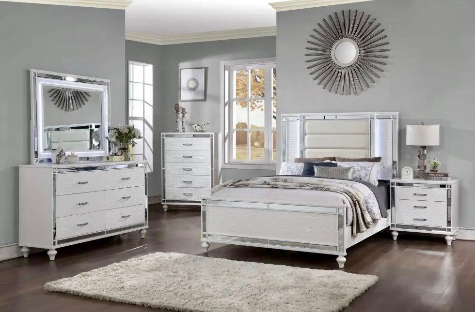 Glam Queen Size Bedroom