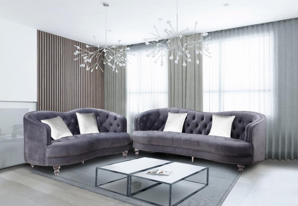 Velvet Sofa and Loveseat