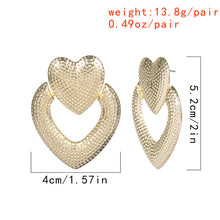 Load image into Gallery viewer, Personalized retro wild fashion heart shap earrings for women