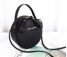 Load image into Gallery viewer, Lychee pattern small personality shoulder messenger round bag