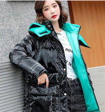 Load image into Gallery viewer, Bright down cotton coat women's winter clothes new style women's padded coat