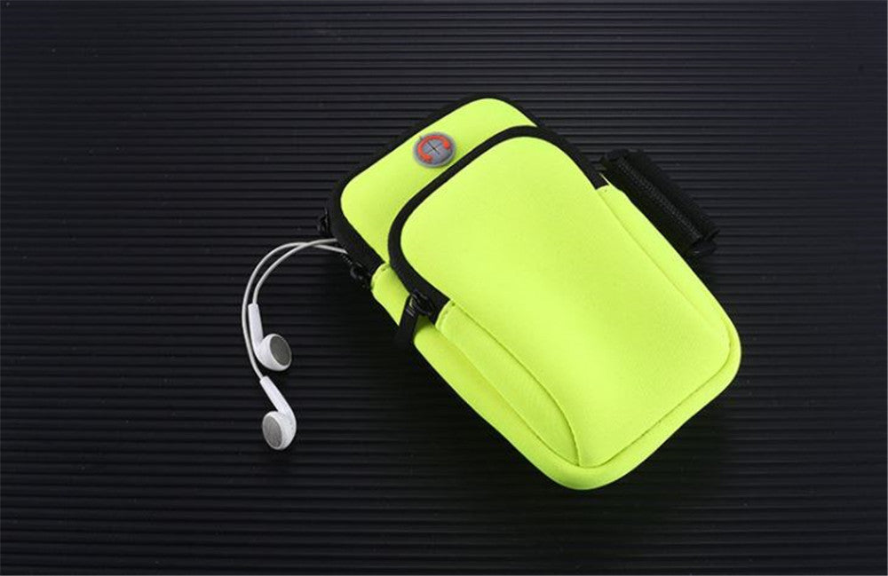 Outdoor sports mobile phone arm bag running fitness wrist arm bag