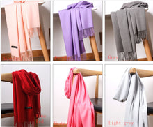 Load image into Gallery viewer, Scarf for Women Cashmere Scarfs Warm Wool Wrap Shawl Stole