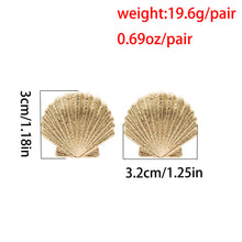 Load image into Gallery viewer, Popular all-match simple earrings fashion frosted shell earrings