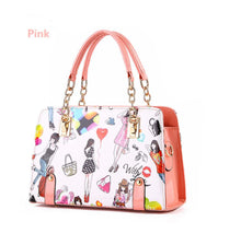 Load image into Gallery viewer, Shoulder bag  new trendy women's  fashion graffiti picture handbag