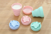 Load image into Gallery viewer, Folding silicone cup wash cup drinking cup portable outdoor travel cup