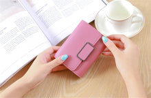 Load image into Gallery viewer, Simple short wallet, ladies buckle wallet, mini wallet, coin purse, card case