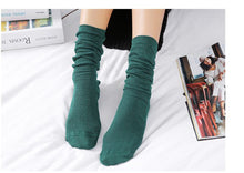 Load image into Gallery viewer, Cotton Socks women Japanese style autumn  winter cotton mid-long
