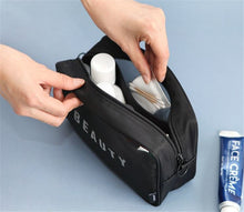 Load image into Gallery viewer, Travel mesh breathable women lady's hand cosmetic bag toilet bag