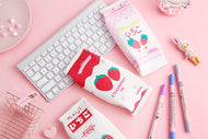 Large capacity storage  pencil case student stationery stawberry milk